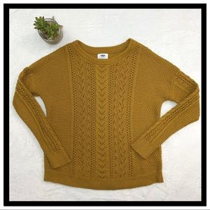 Old Navy Mustard Yellow Knit Sweater Medium